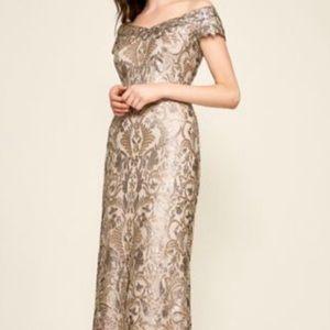 Tadashi gold prom or wedding dress